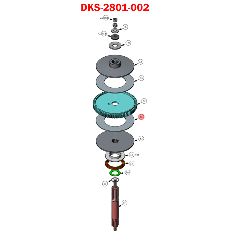 Doorking 6050 2801 002 Clutch Pad 7 Quot Od605 610 6100