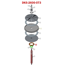 Doorking 6300,  2600-073 , Magnet Counter Ring