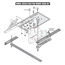 Doorking Pad Mount Kit DK2600-671 Doorking Pad Mount Kit Gate Operator