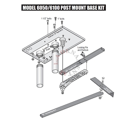 DOORKING POST MOUNT for 6050-6100 Swing Gate Openers