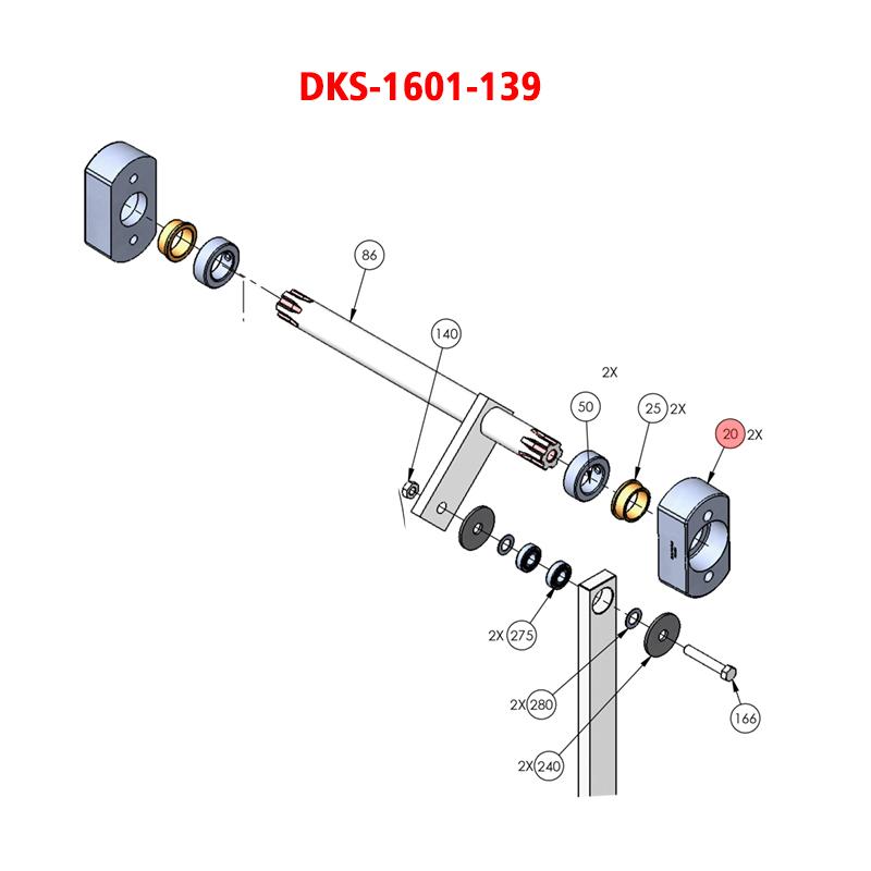 Doorking 1601 1601 139 Bearing Blk Die Cast 1601