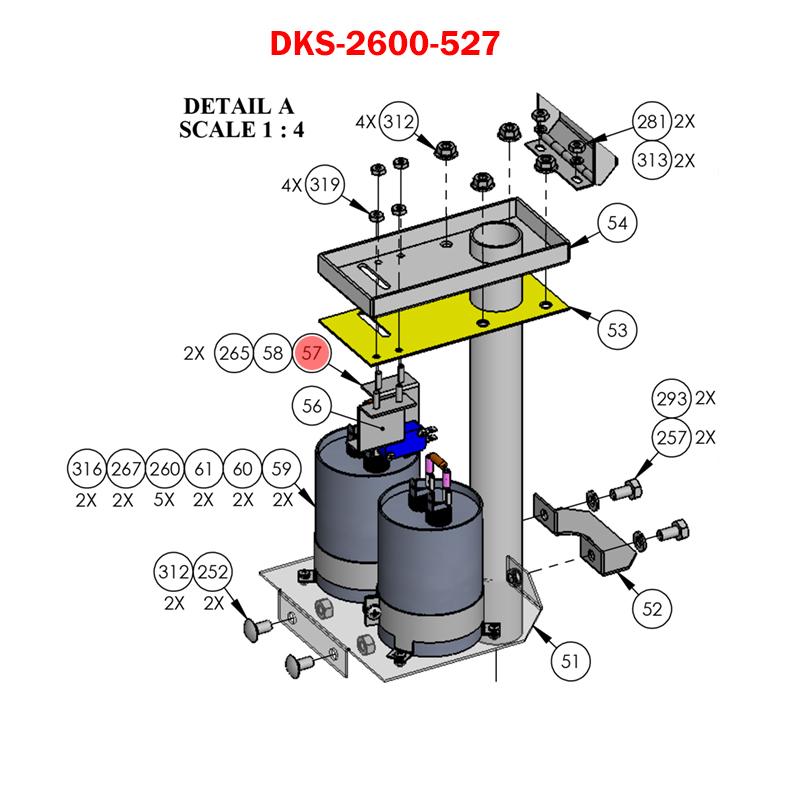 Doorking 9210 9220 9230 2600 527 Bracket Limit Switch 9200