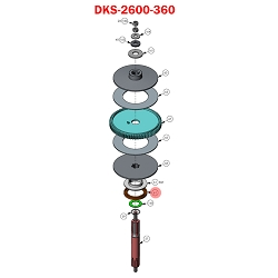 Doorking 6050,  2600-360 , Counter Wheel Mag Assembly