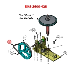 Doorking 6300,  2600-428 , Belt-Cogged, AX-34