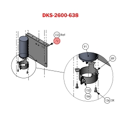 Doorking 6050,  2600-638 , Bracket Radio 610 Battery Bkup