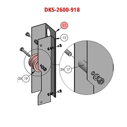Doorking 9210, 9220, 9230,  2600-918, Bracket Idler Right Model 920
