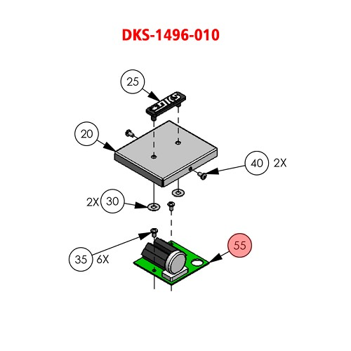 Doorking 6003,  1496-010 , PCB Hash Filter DC Operators