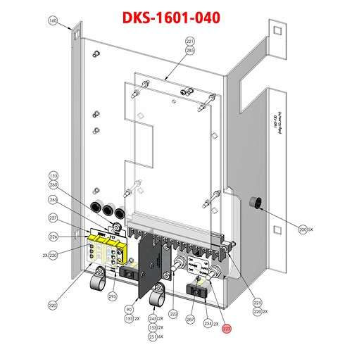 Doorking 1601,  1601-040, Switch Toggle ON-OFF-ON MOMEN